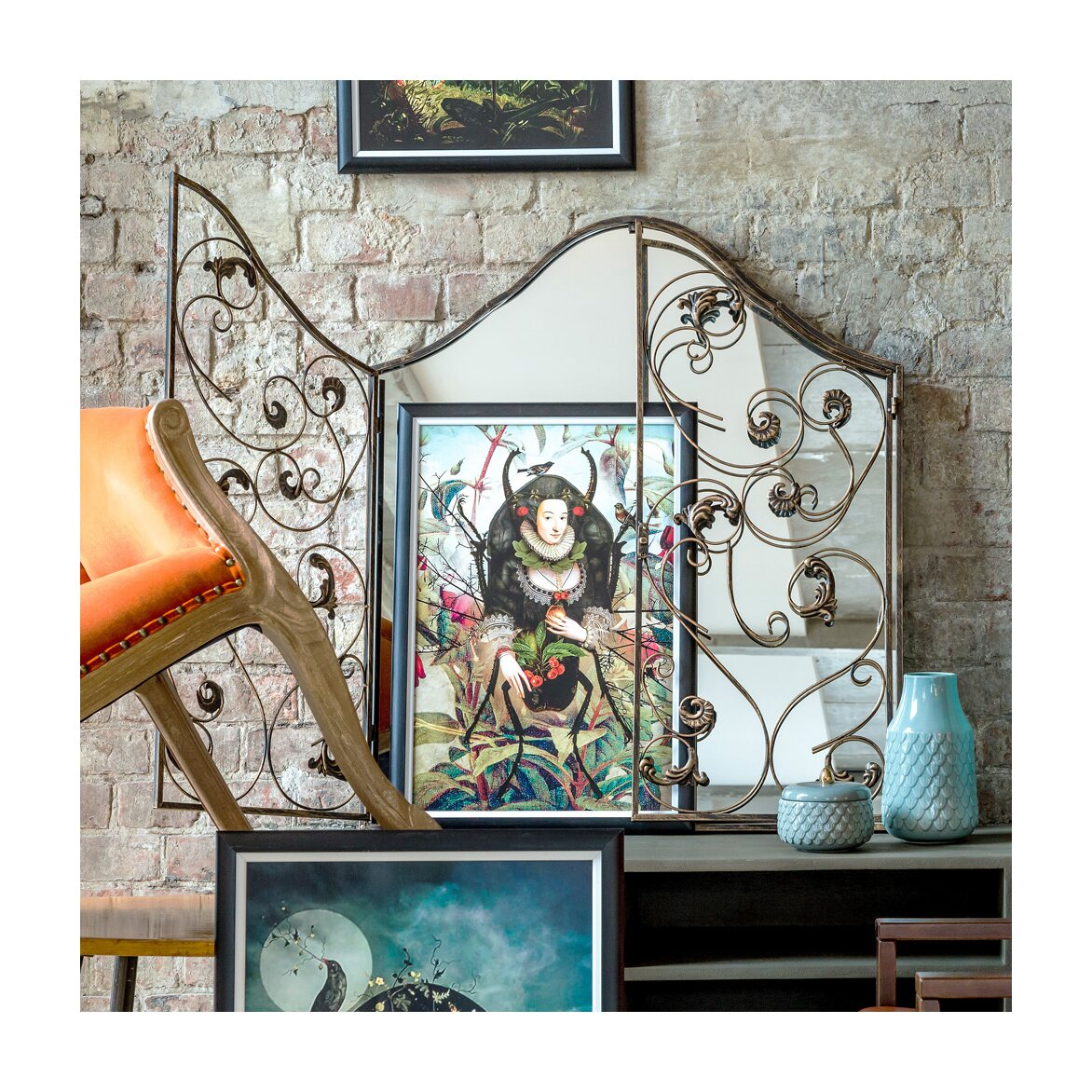 Настенное зеркало «Монтанер» (королевская бронза) 2 | Настенные зеркала Kingsby