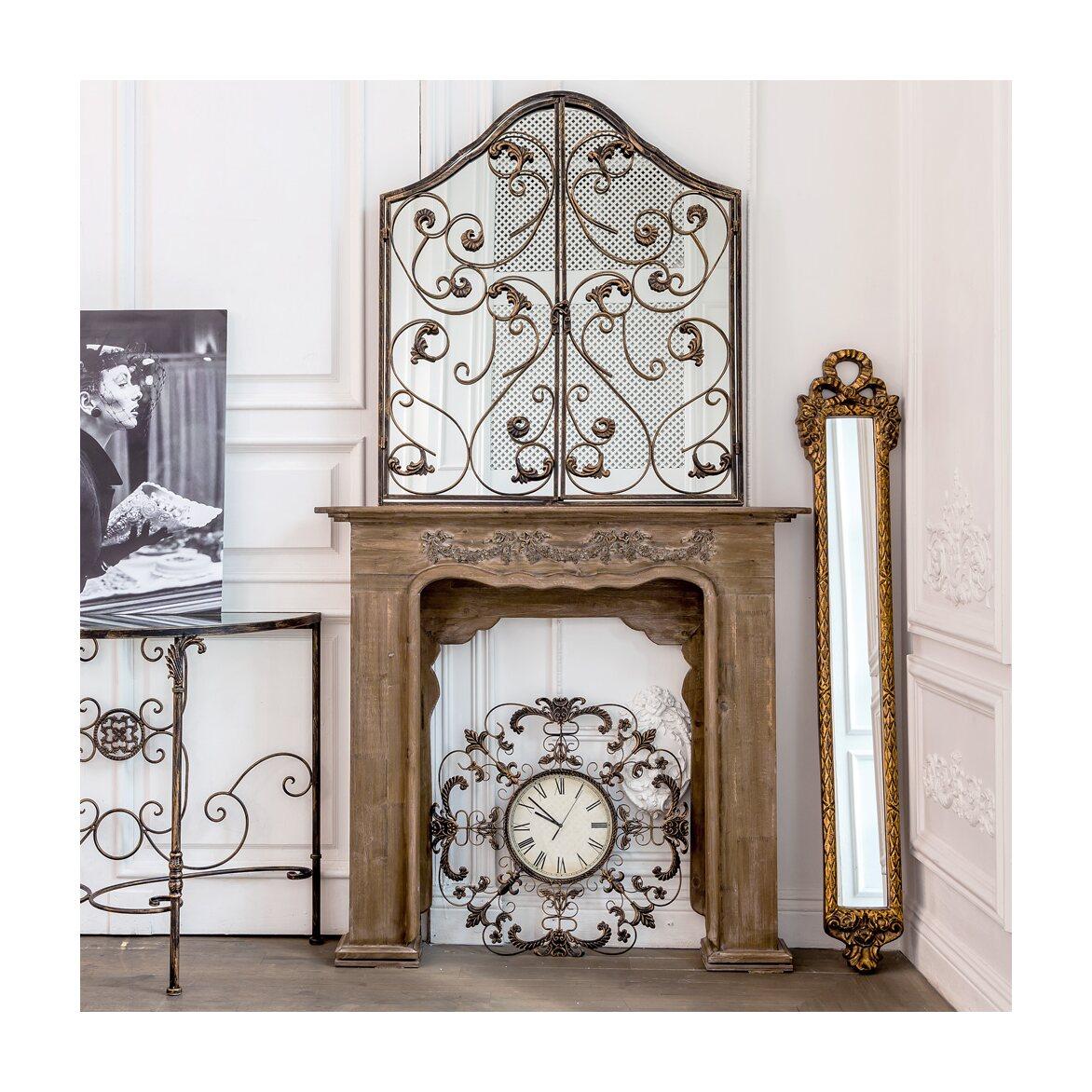 Настенное зеркало «Монтанер» (королевская бронза) 10 | Настенные зеркала Kingsby
