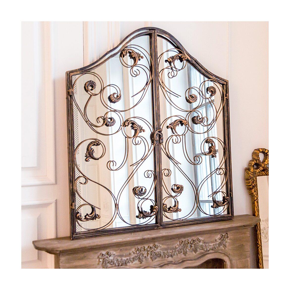 Настенное зеркало «Монтанер» (королевская бронза) 9 | Настенные зеркала Kingsby