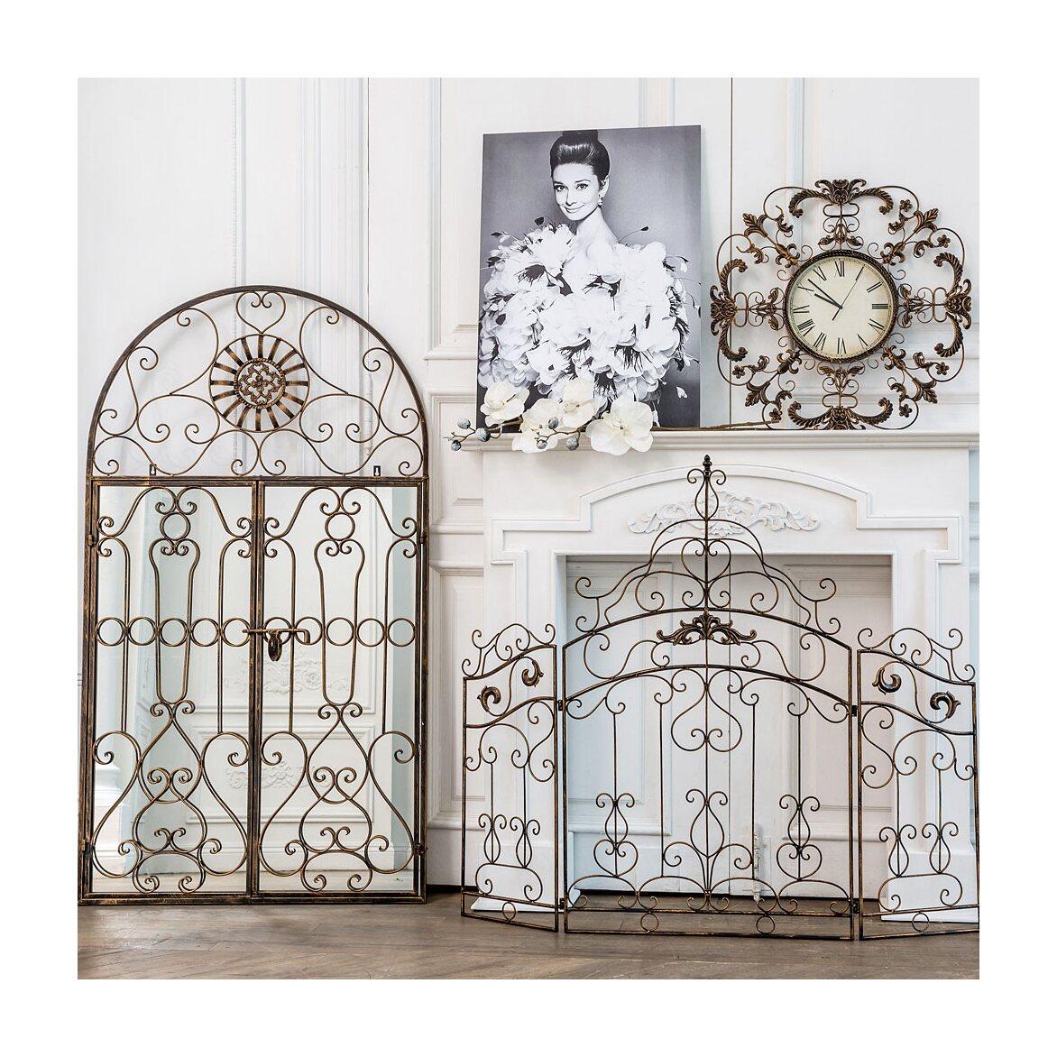 Настенное зеркало «Дивон» (королевская бронза) 2 | Настенные зеркала Kingsby