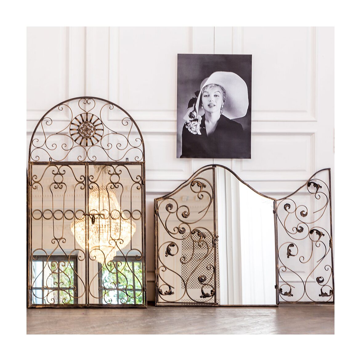 Настенное зеркало «Дивон» (королевская бронза) 7 | Настенные зеркала Kingsby