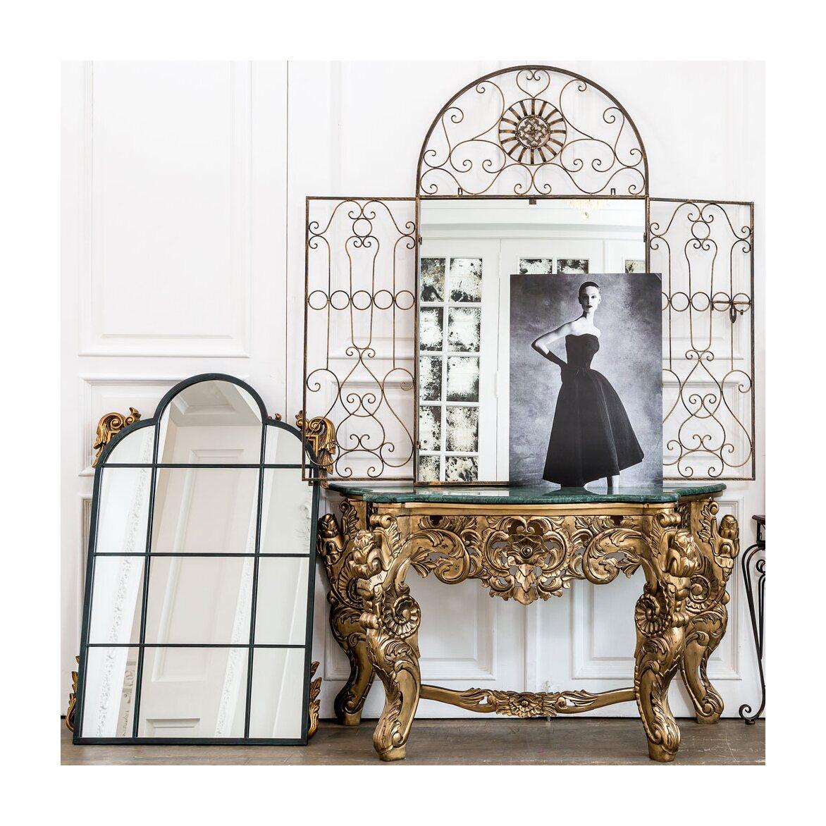 Настенное зеркало «Дивон» (королевская бронза) 3 | Настенные зеркала Kingsby