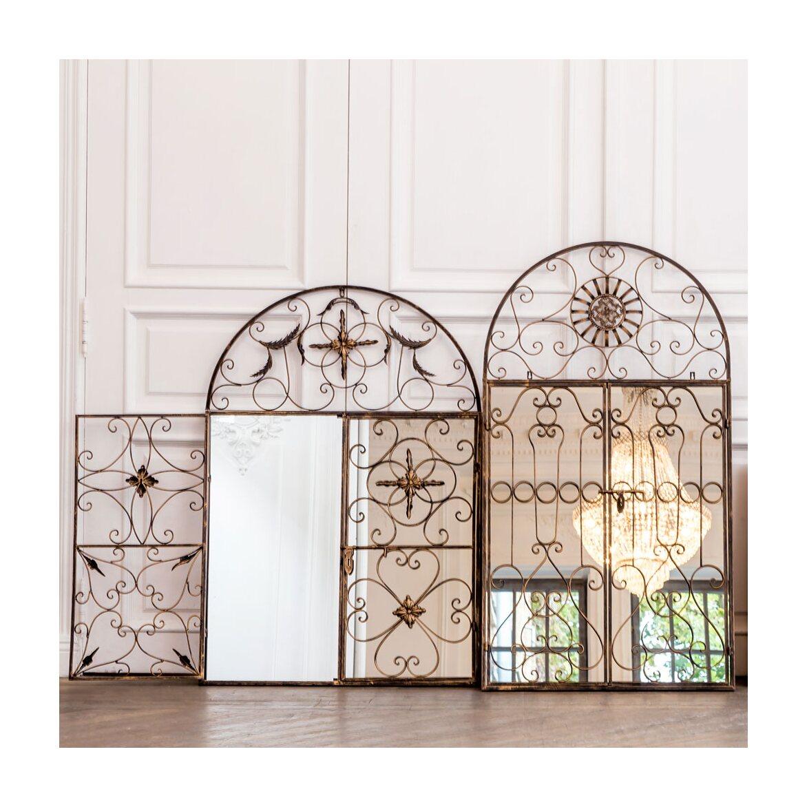 Настенное зеркало «Дивон» (королевская бронза) 4 | Настенные зеркала Kingsby
