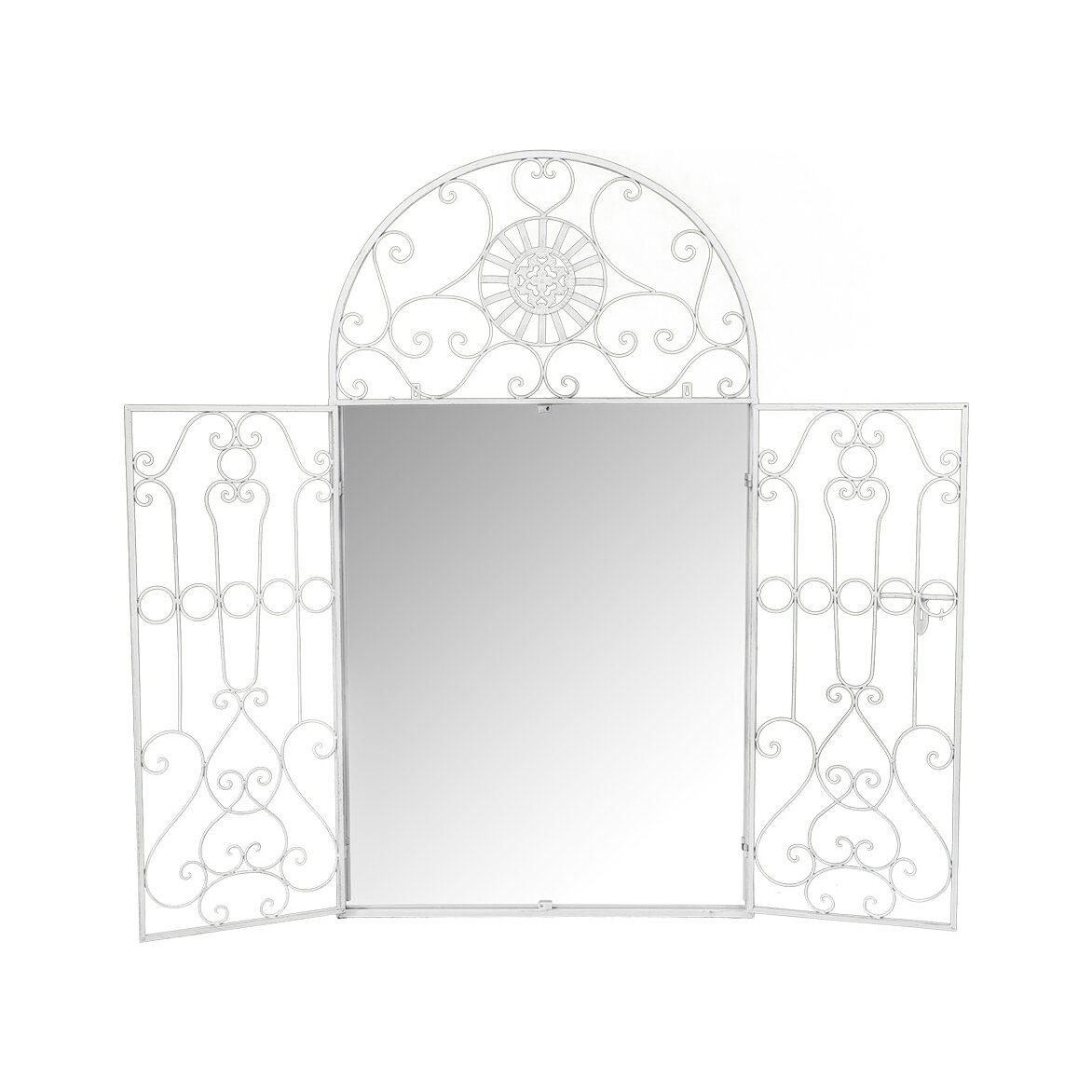 Настенное зеркало «Дивон» (белый антик) 2 | Настенные зеркала Kingsby