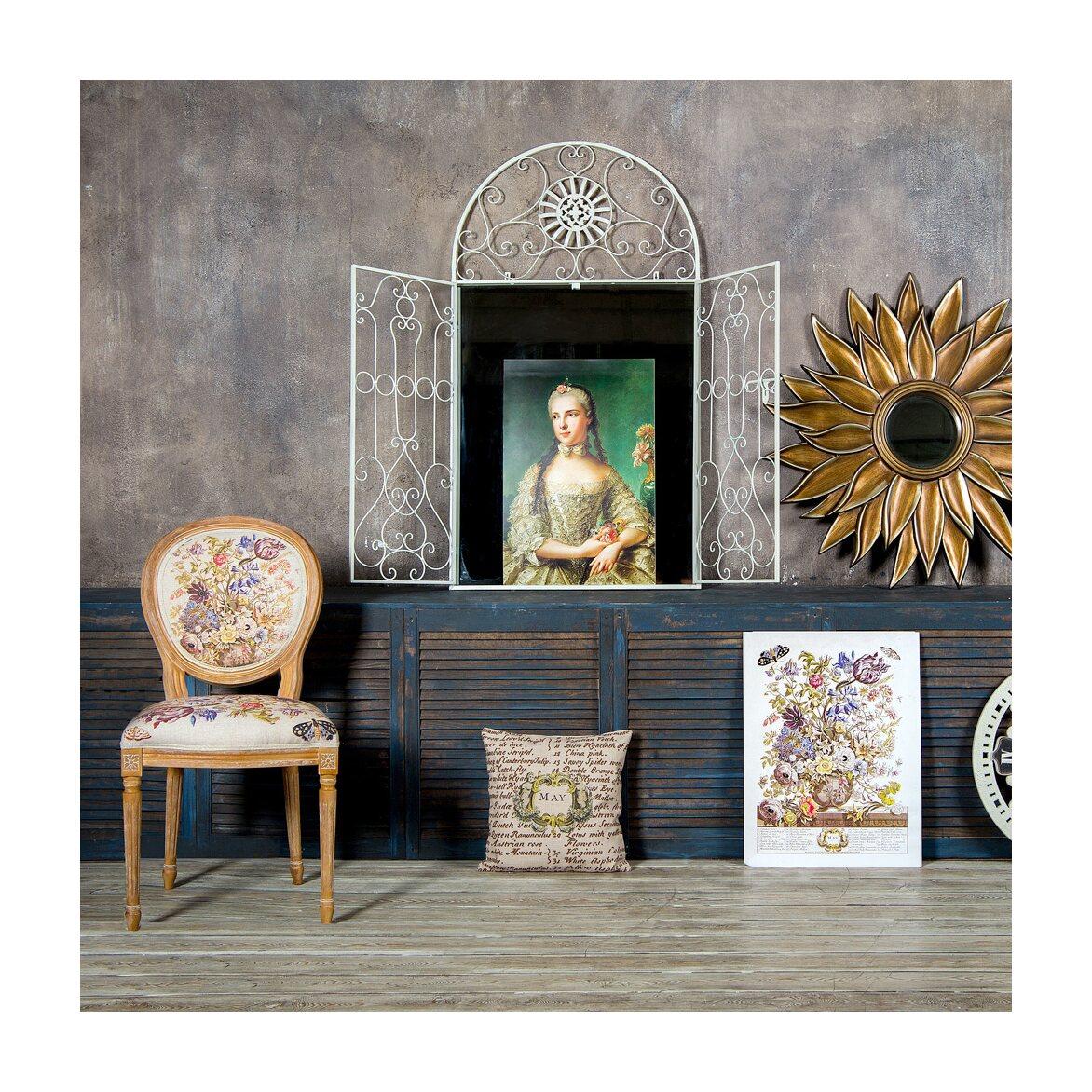 Настенное зеркало «Дивон» (белый антик) 8 | Настенные зеркала Kingsby