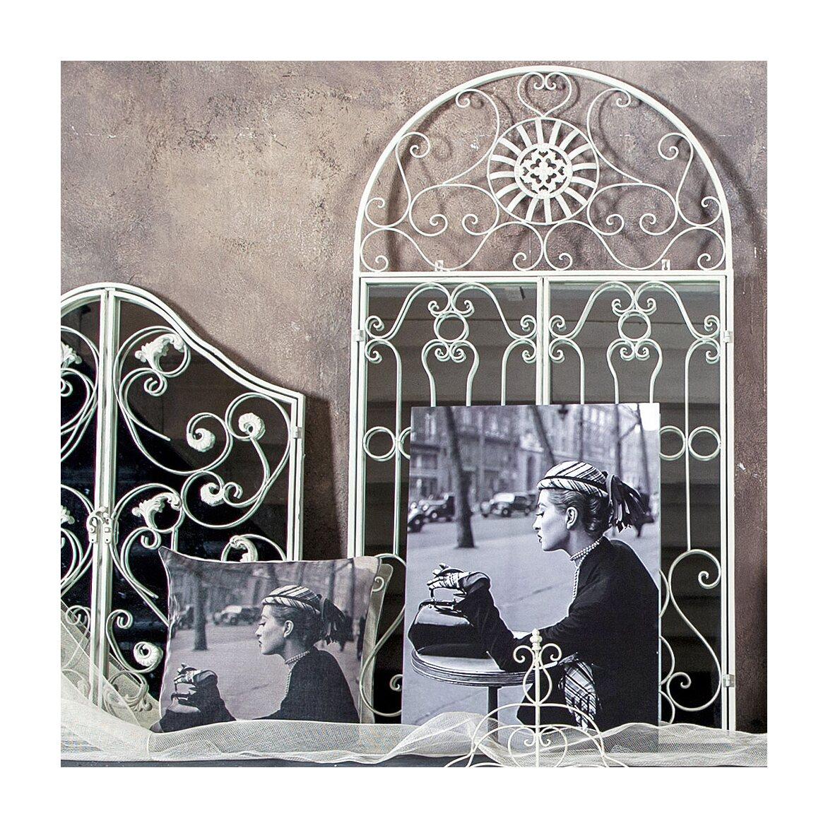 Настенное зеркало «Дивон» (белый антик) 7 | Настенные зеркала Kingsby