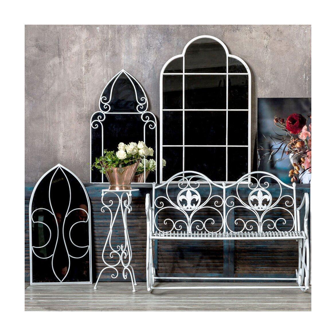 Настенное зеркало «Флореаль» (белый антик) 3 | Настенные зеркала Kingsby