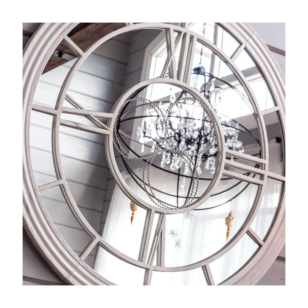 Настенное зеркало «Сен-Лазар» (белый антик) 2 | Настенные зеркала Kingsby