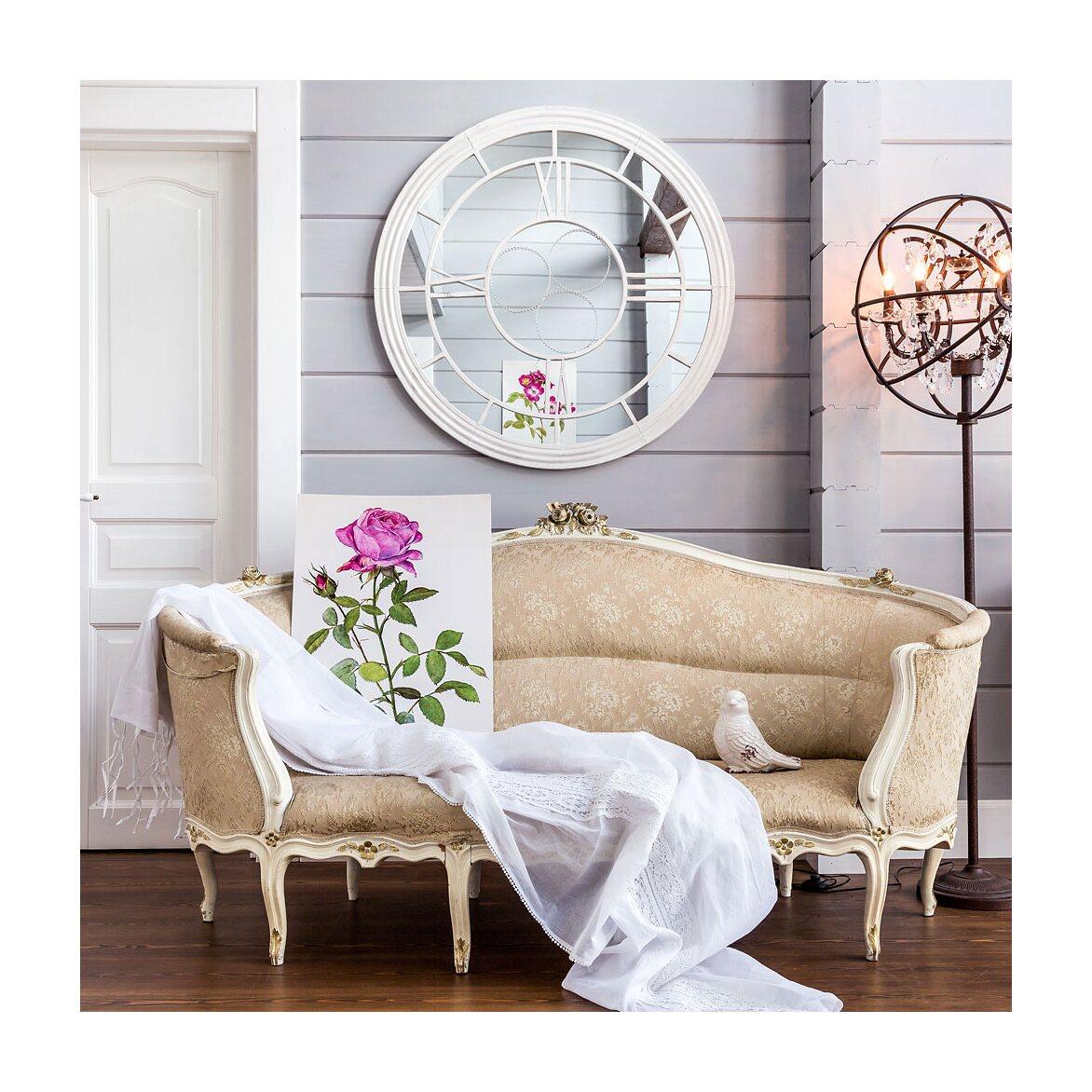 Настенное зеркало «Сен-Лазар» (белый антик) 3 | Настенные зеркала Kingsby