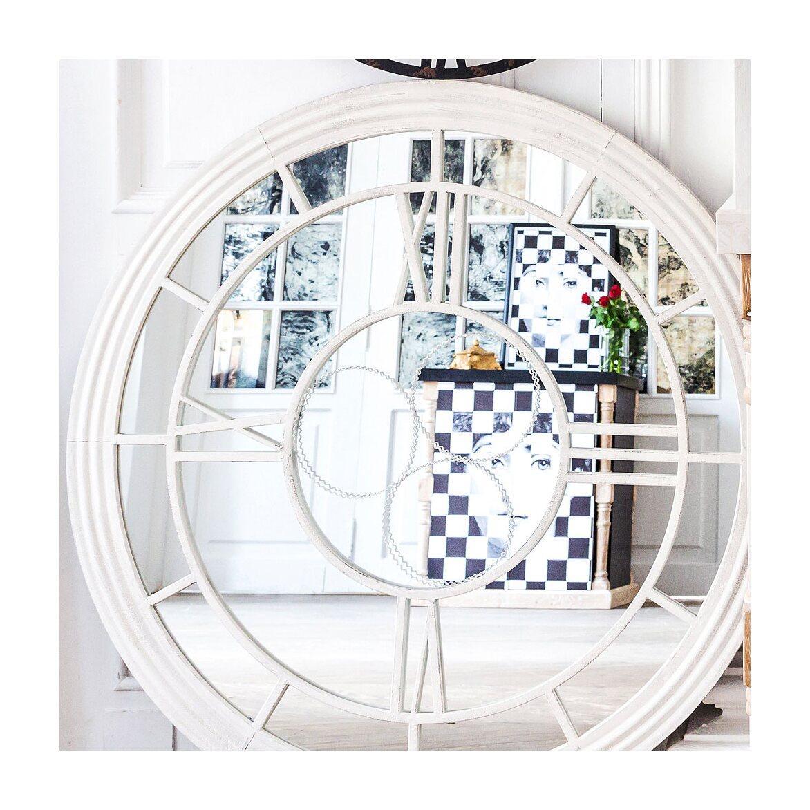 Настенное зеркало «Сен-Лазар» (белый антик) 8 | Настенные зеркала Kingsby