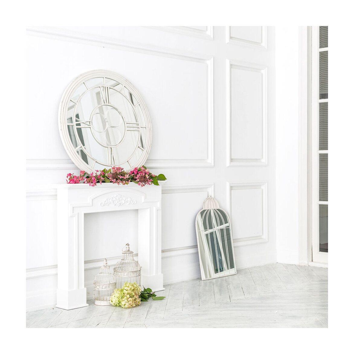 Настенное зеркало «Сен-Лазар» (белый антик) 6 | Настенные зеркала Kingsby