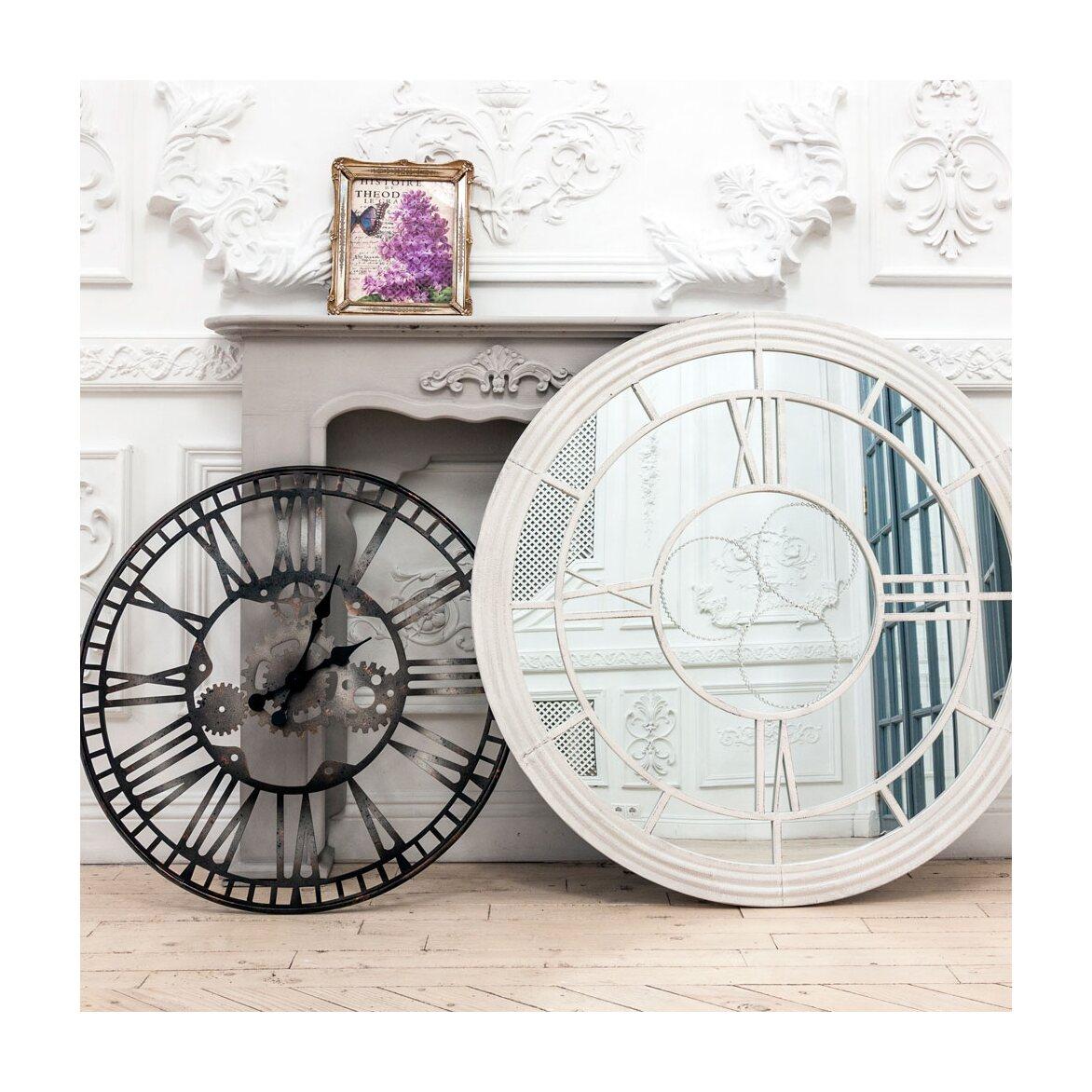 Настенное зеркало «Сен-Лазар» (белый антик) 4 | Настенные зеркала Kingsby