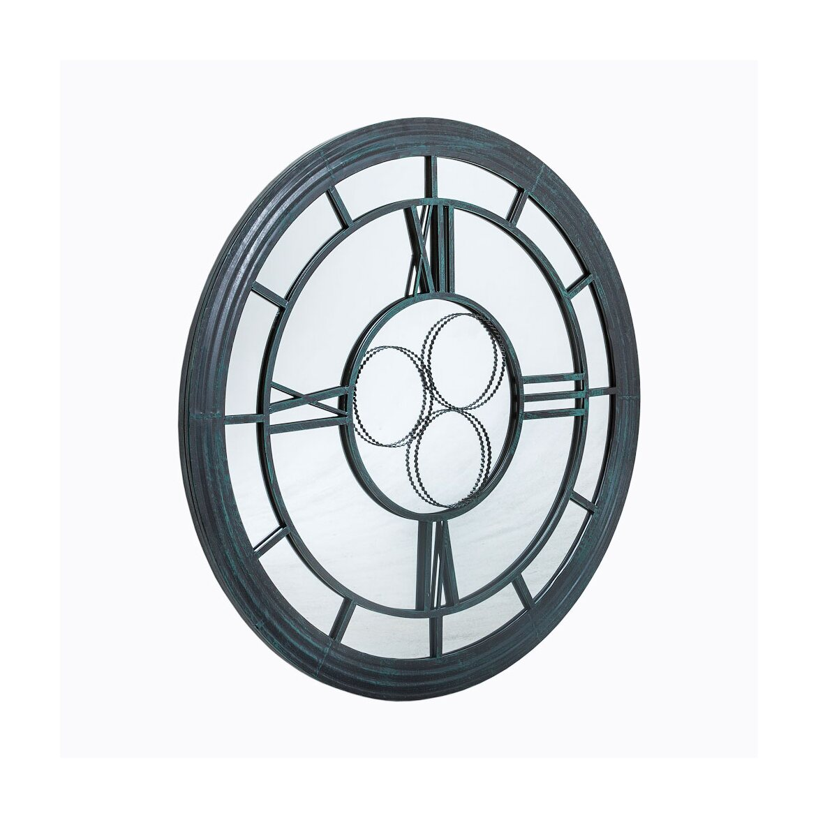 Настенное зеркало «Сен-Лазар» (черный антик) | Настенные зеркала Kingsby