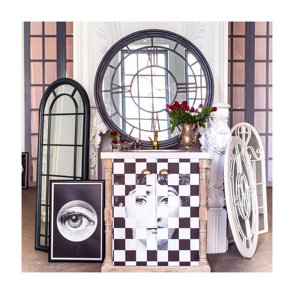 Настенное зеркало «Сен-Лазар» (черный антик) 2 | Настенные зеркала Kingsby