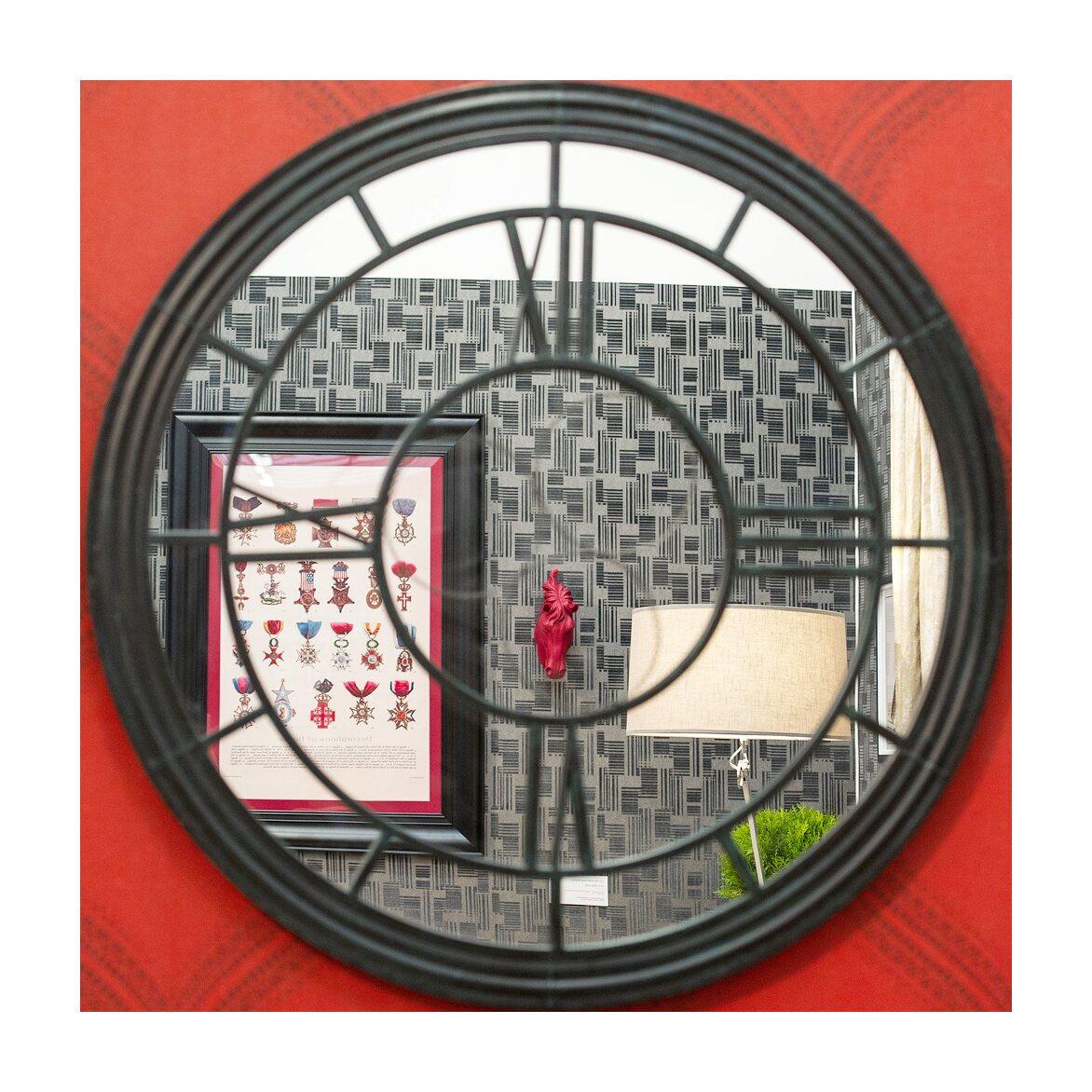 Настенное зеркало «Сен-Лазар» (черный антик) 5 | Настенные зеркала Kingsby