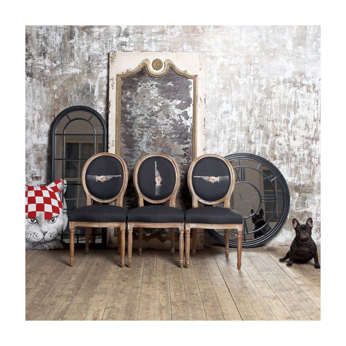 Настенное зеркало «Сен-Лазар» (черный антик) 8 | Настенные зеркала Kingsby