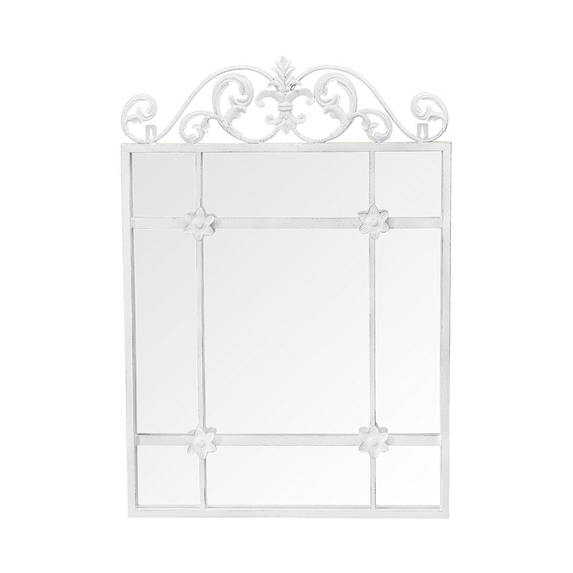 Настенное зеркало «Равель» (белый антик) | Настенные зеркала Kingsby