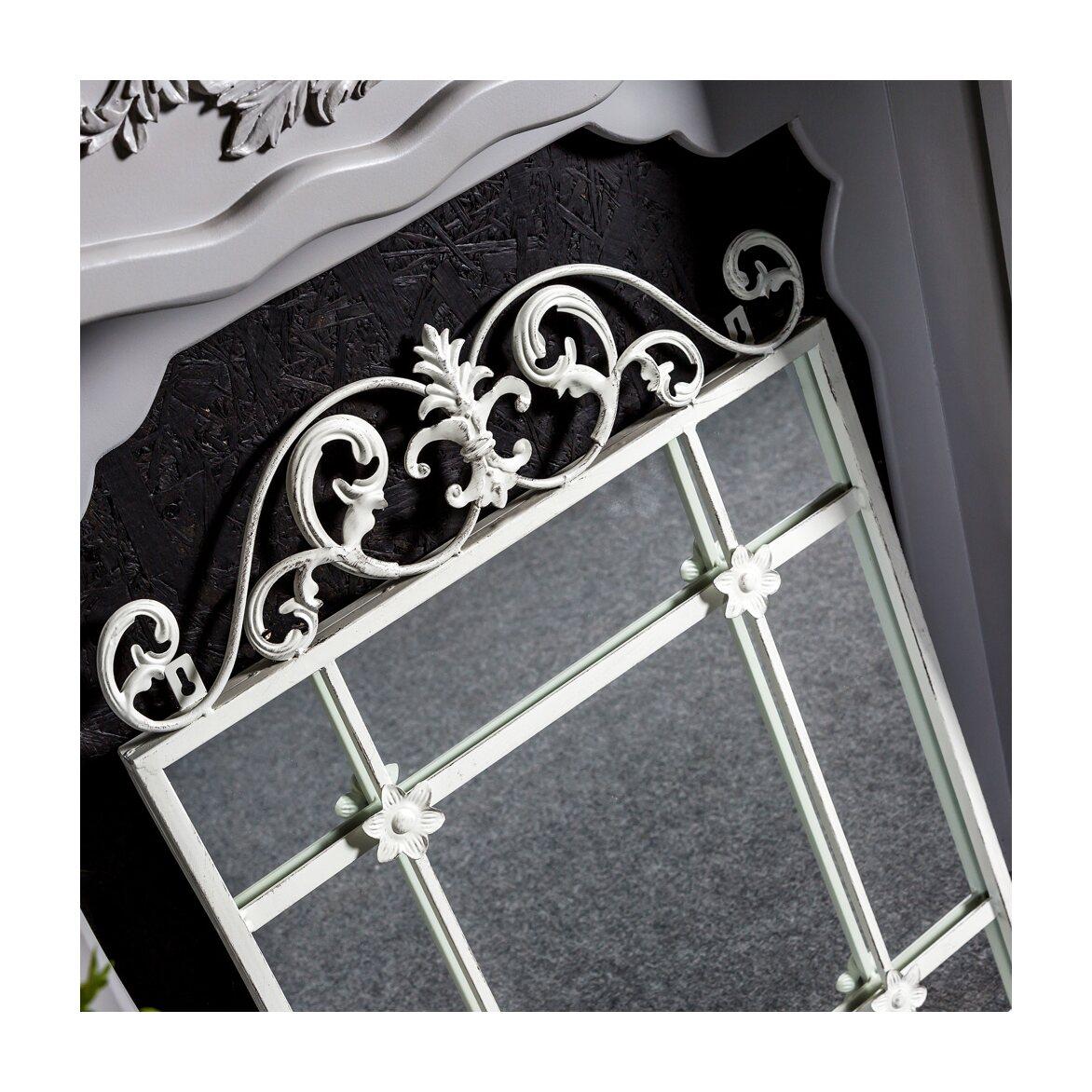 Настенное зеркало «Равель» (белый антик) 6 | Настенные зеркала Kingsby