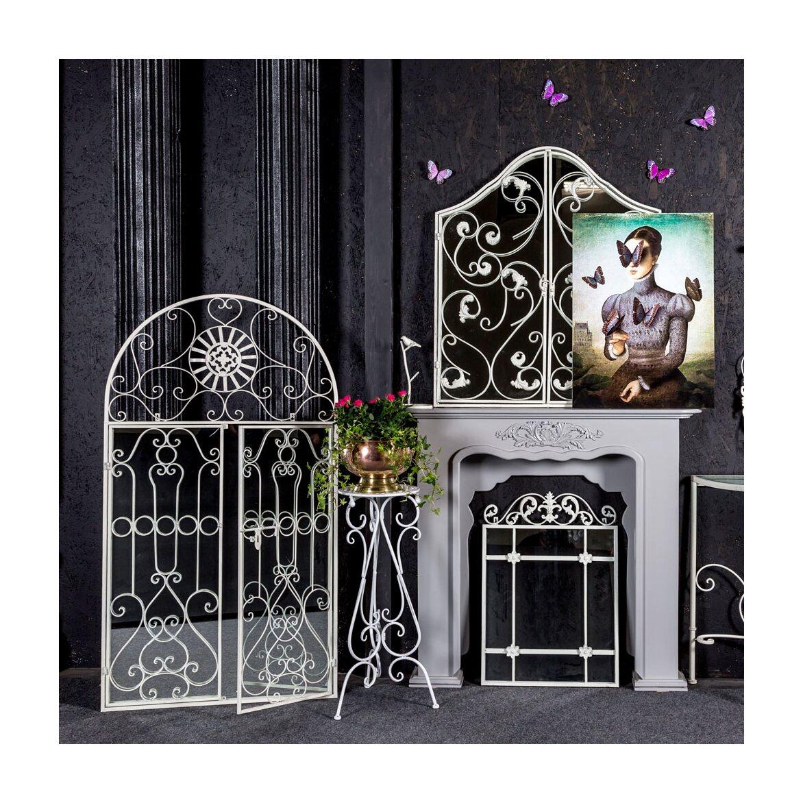 Настенное зеркало «Равель» (белый антик) 5 | Настенные зеркала Kingsby