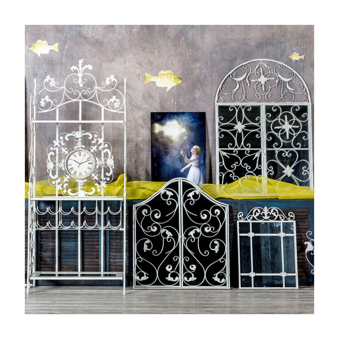 Настенное зеркало «Равель» (белый антик) 4 | Настенные зеркала Kingsby