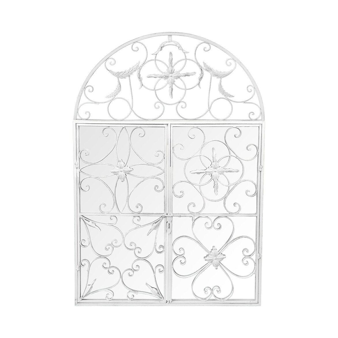 Настенное зеркало «Бизе» (белый антик) | Настенные зеркала Kingsby
