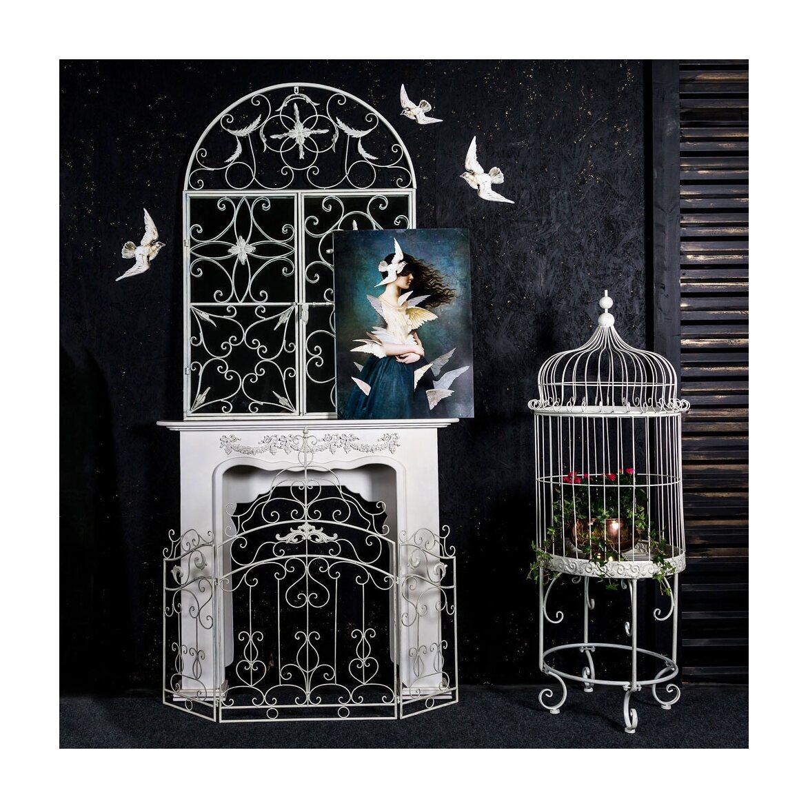 Настенное зеркало «Бизе» (белый антик) 2 | Настенные зеркала Kingsby