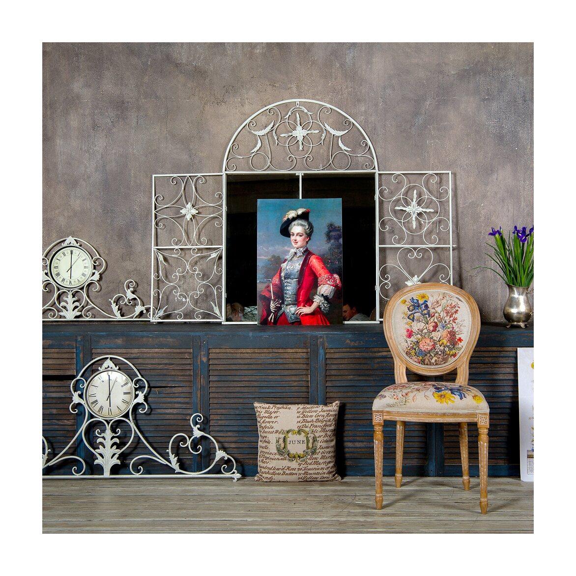 Настенное зеркало «Бизе» (белый антик) 4 | Настенные зеркала Kingsby