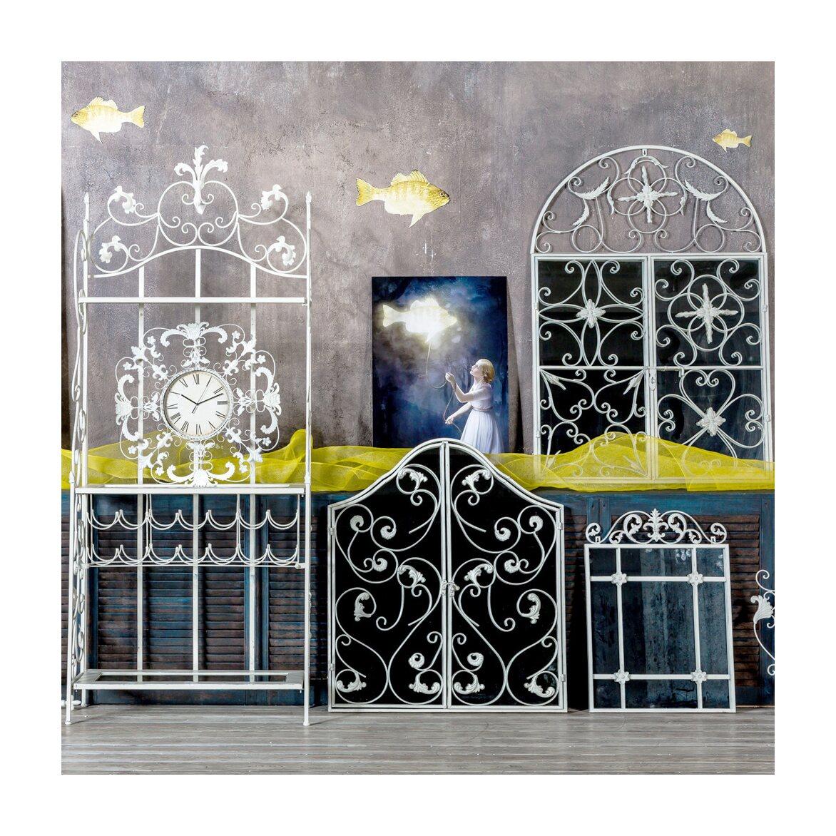 Настенное зеркало «Бизе» (белый антик) 5 | Настенные зеркала Kingsby