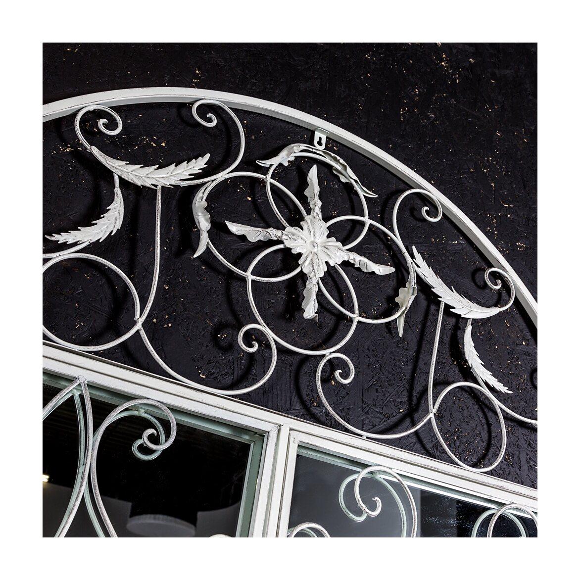 Настенное зеркало «Бизе» (белый антик) 6 | Настенные зеркала Kingsby