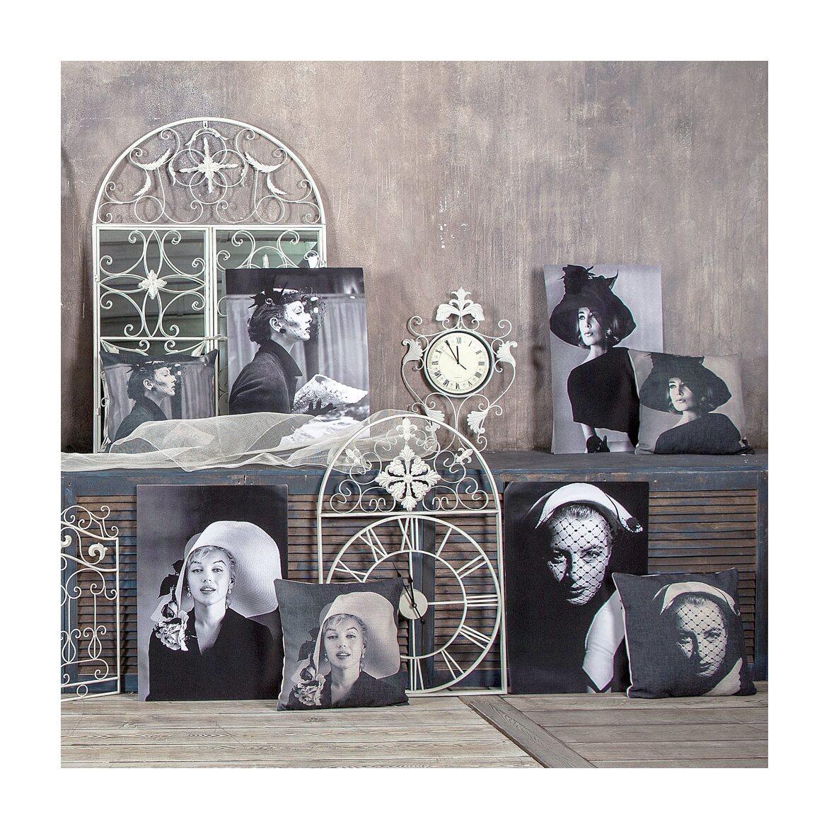 Настенное зеркало «Бизе» (белый антик) 8 | Настенные зеркала Kingsby