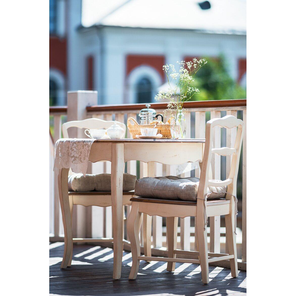 Стул с деревянным сиденьем Leontina, бежевого цвета 3   Обеденные стулья Kingsby