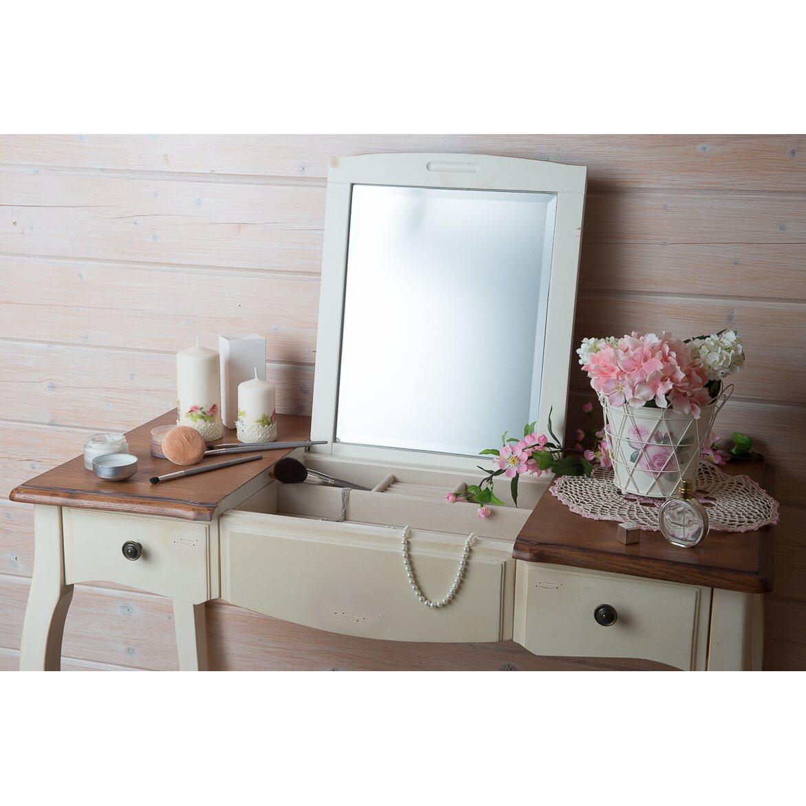 Туалетный столик с зеркалом Leontina, бежевого цвета 4   Туалетные столики Kingsby
