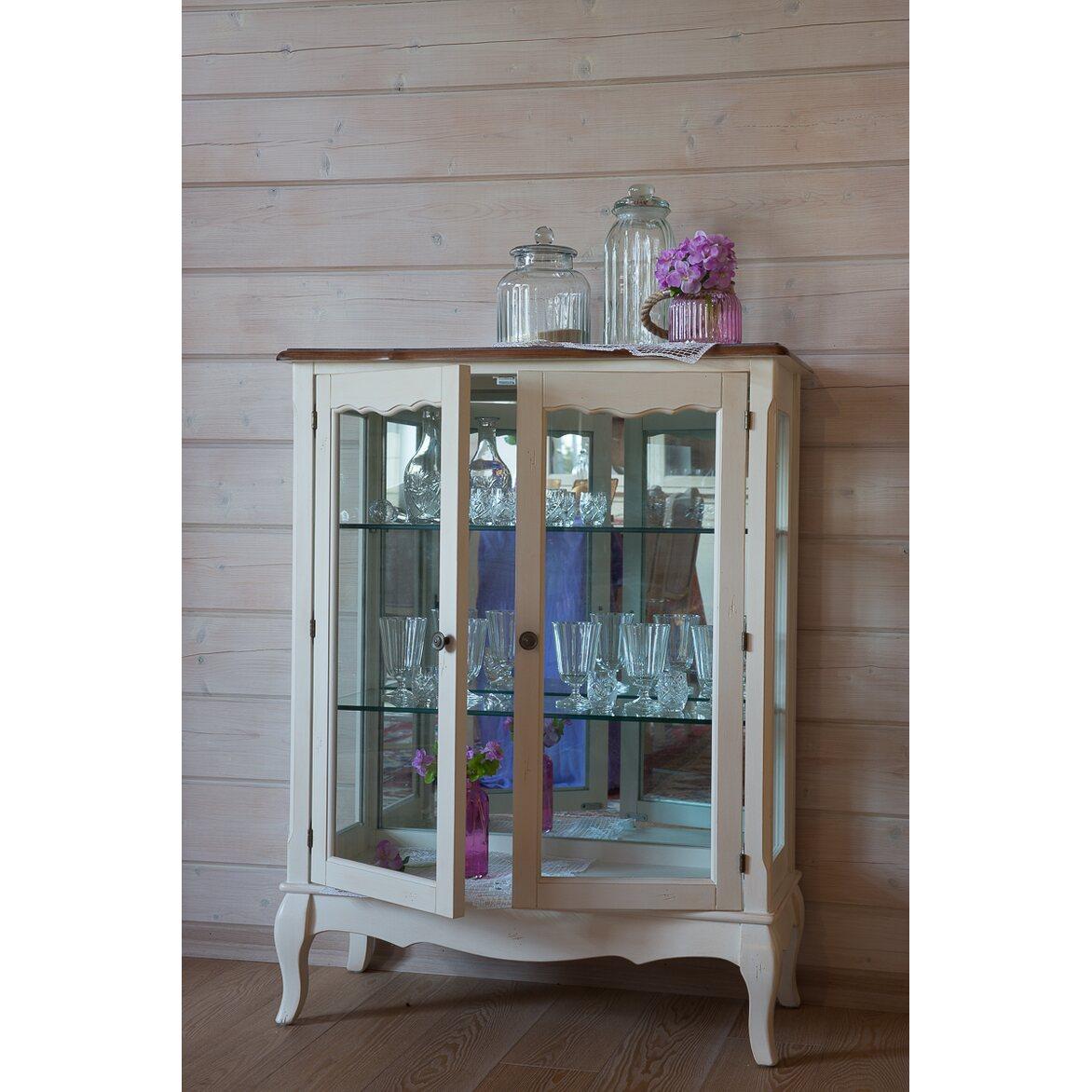 Стеклянная витрина (двойная) Leontina, бежевого цвета 3 | Витрины Kingsby