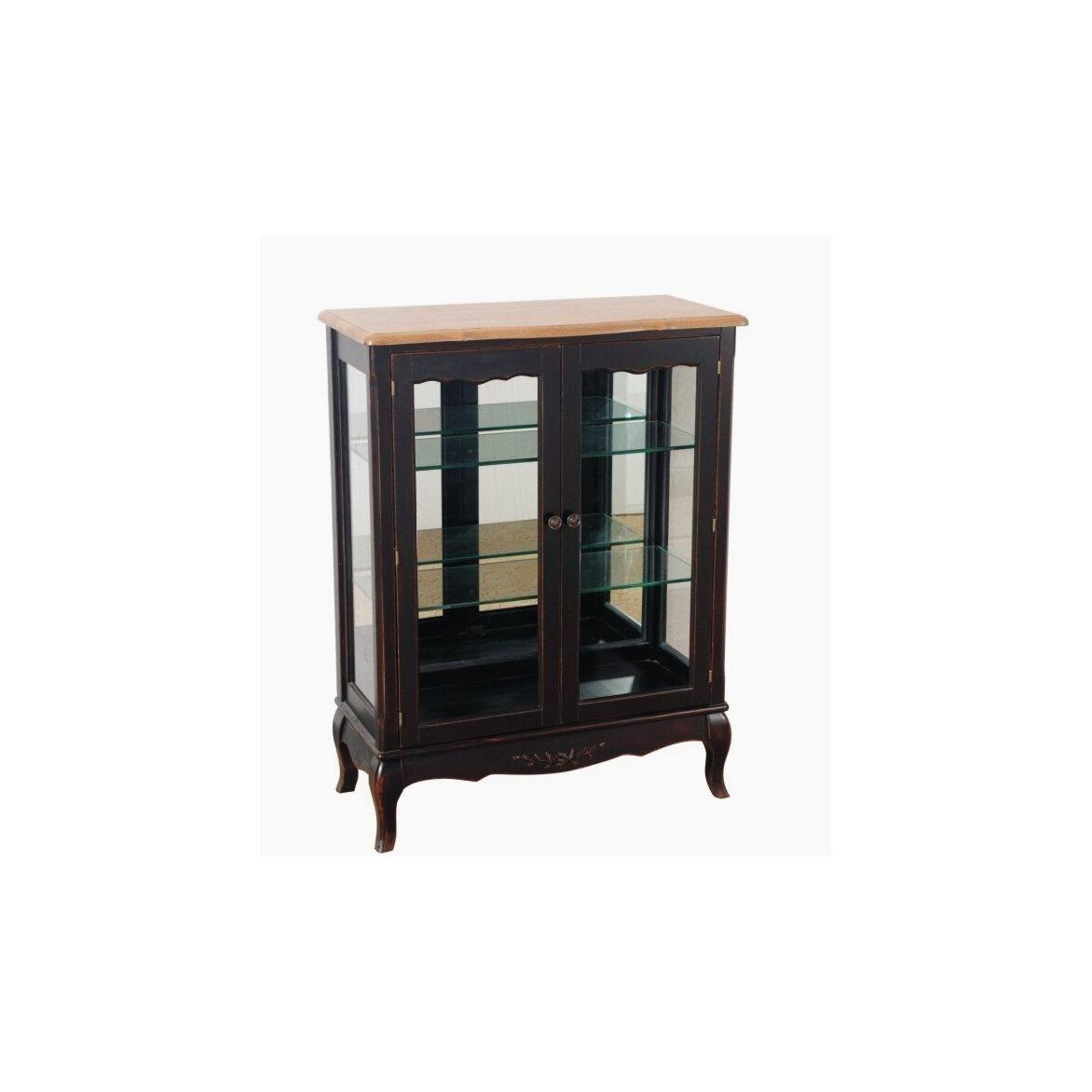 Стеклянная витрина (двойная) Leontina, черного цвета | Витрины Kingsby