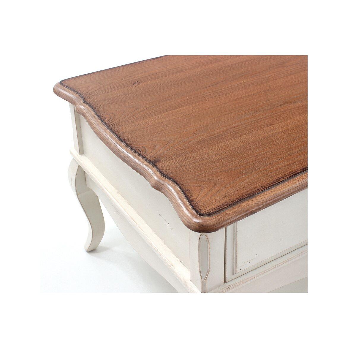 Чайный столик с 2-мя ящиками Leontina, бежевого цвета 6 | Журнальные столики Kingsby
