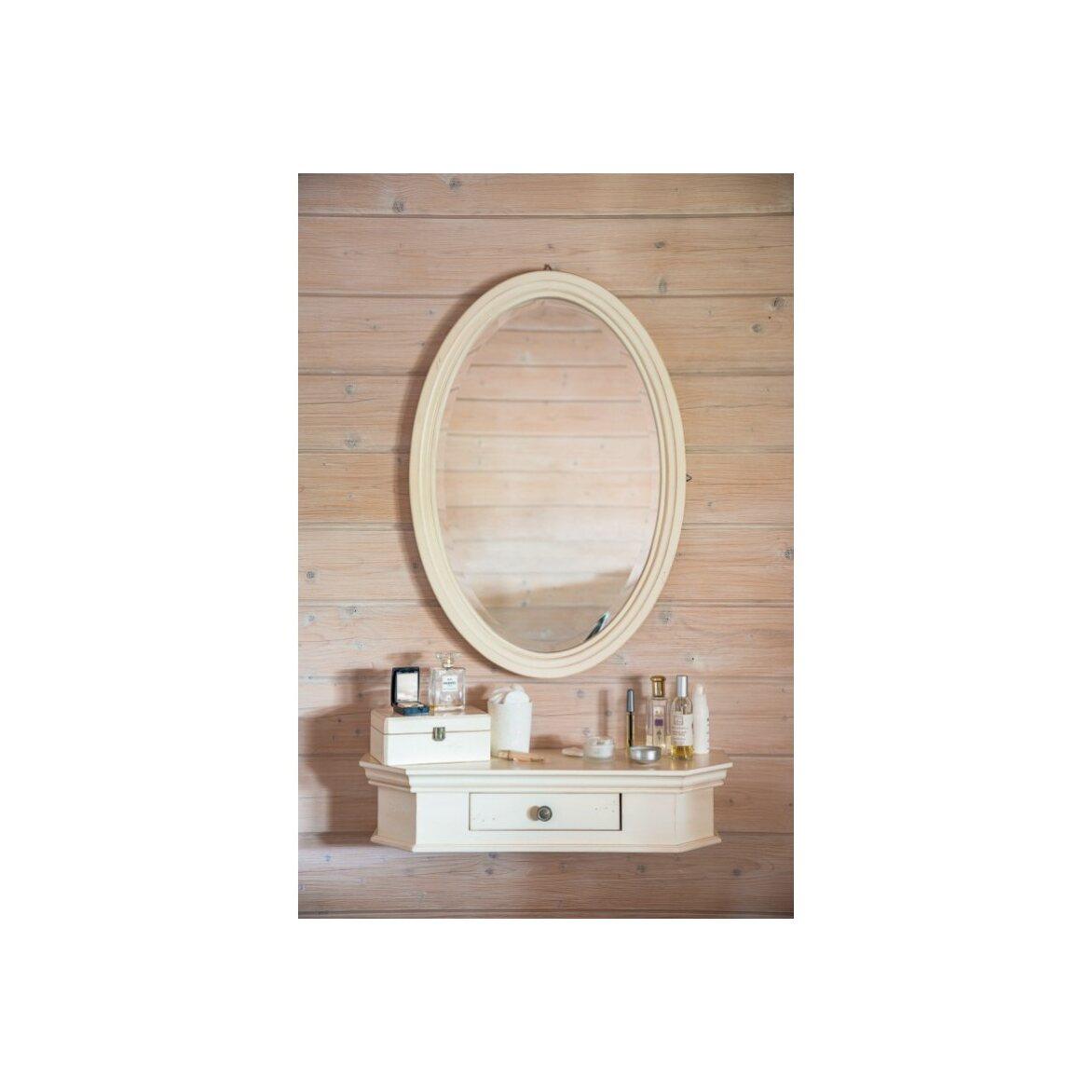 Овальное зеркало Leontina, бежевого цвета 3 | Настенные зеркала Kingsby
