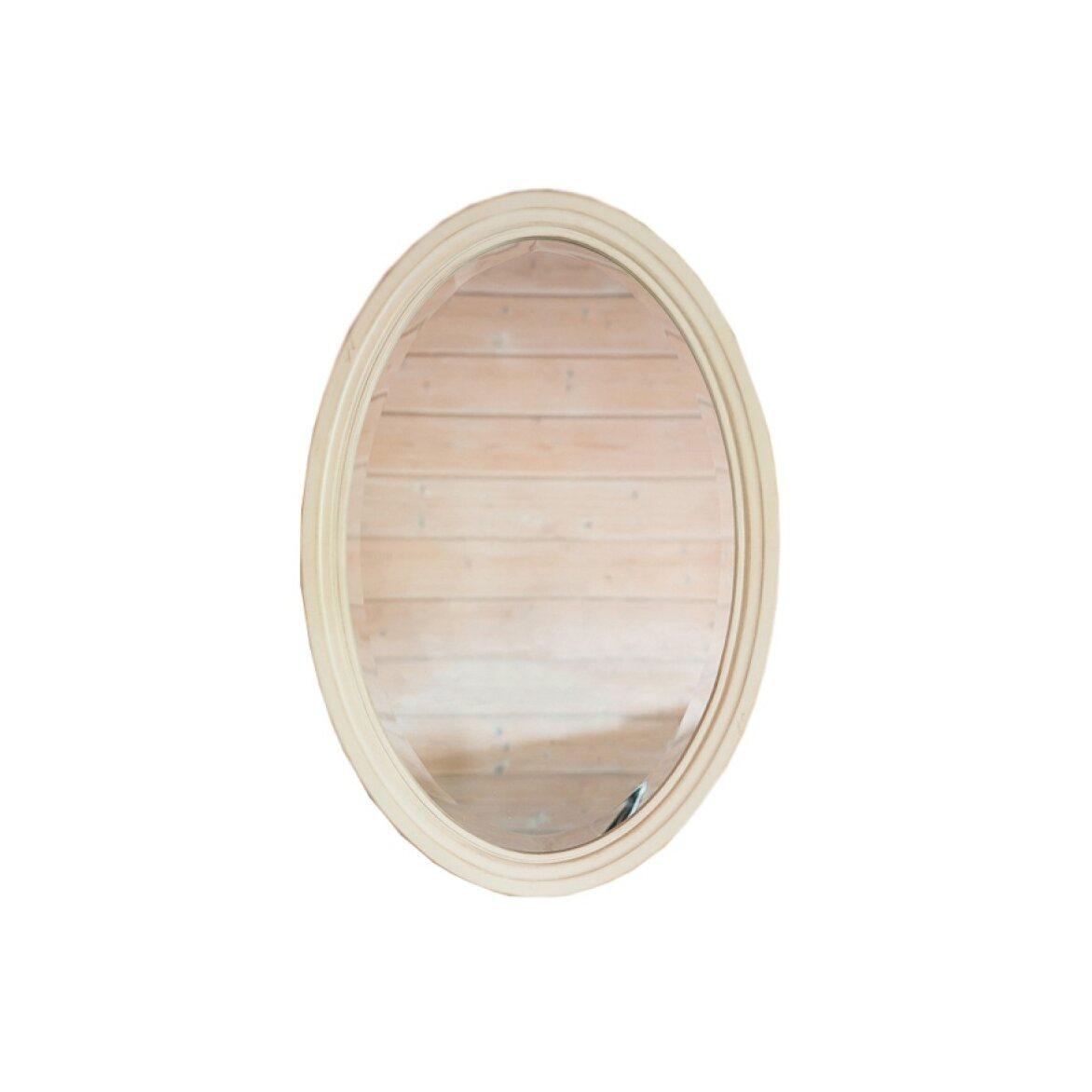 Овальное зеркало Leontina, бежевого цвета | Настенные зеркала Kingsby