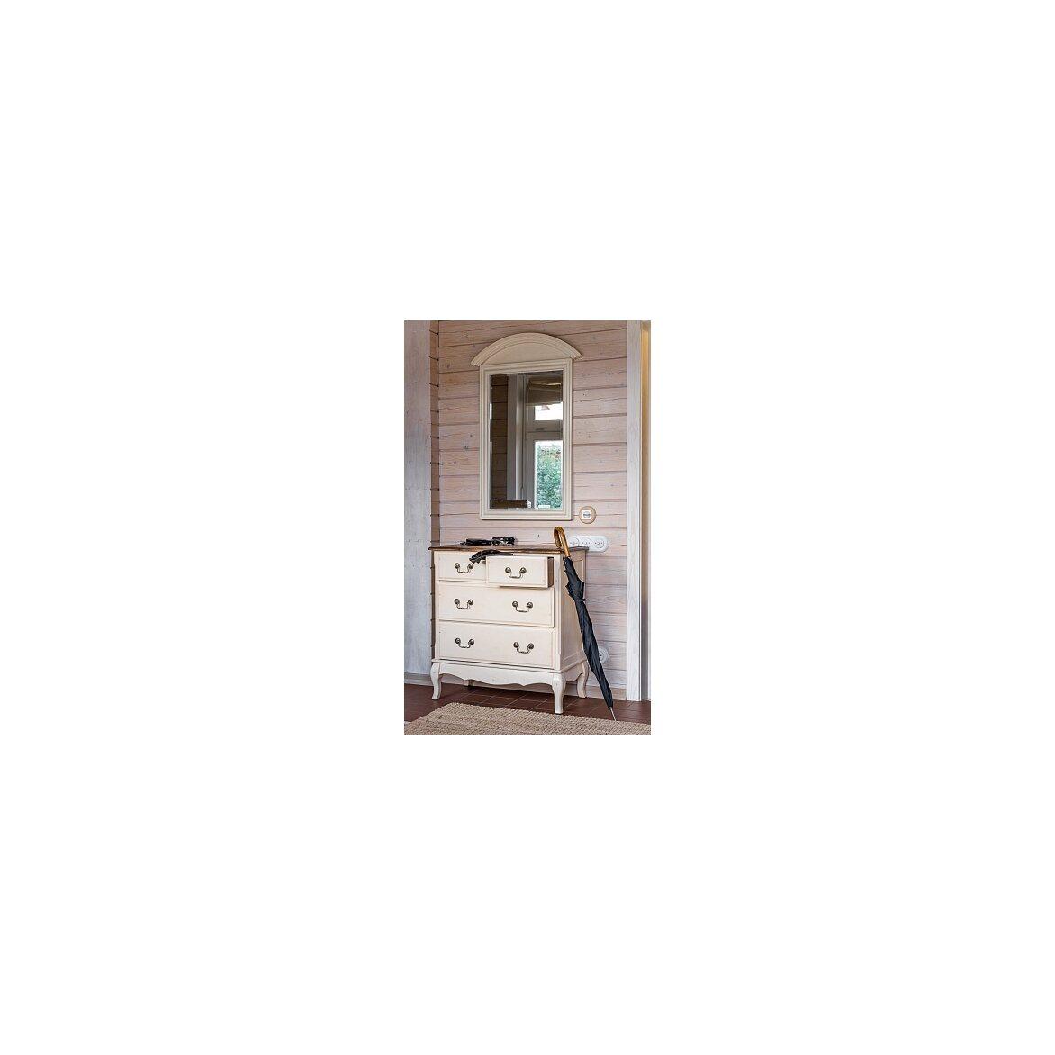 Прямоугольное зеркало настенное Leontina, бежевого цвета 3   Настенные зеркала Kingsby