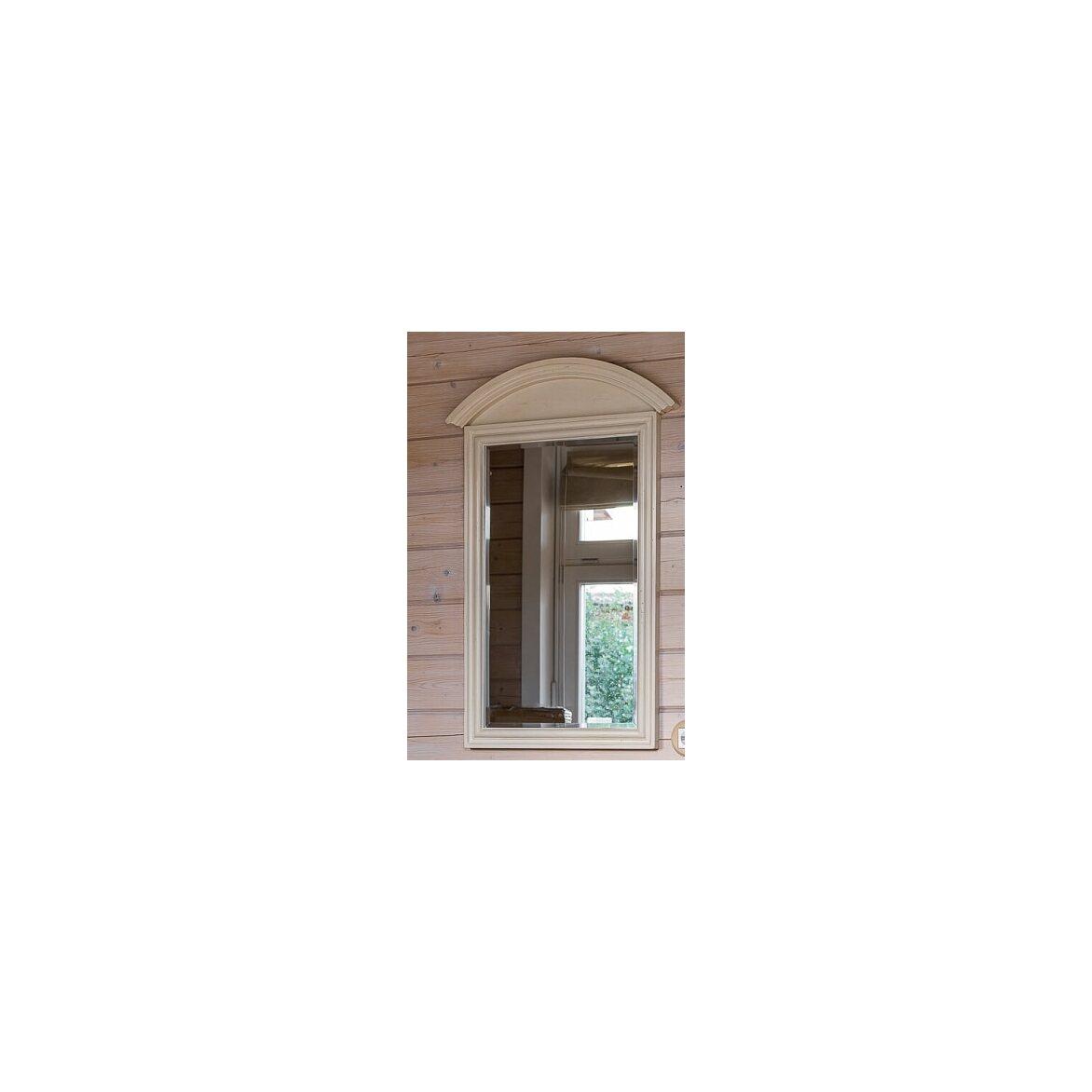 Прямоугольное зеркало настенное Leontina, бежевого цвета 2   Настенные зеркала Kingsby