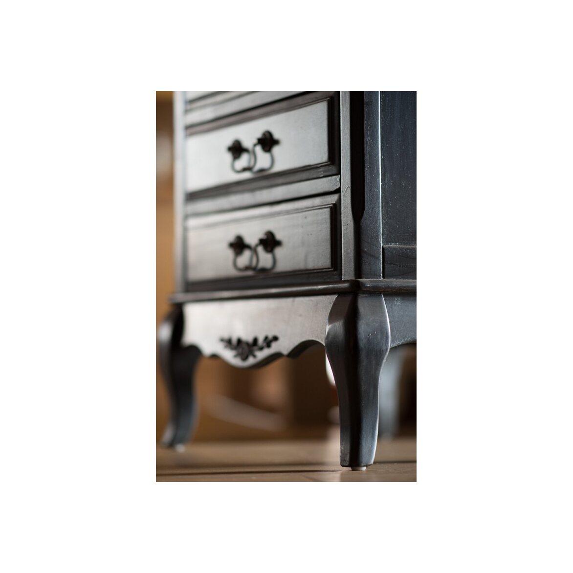 Комод 6 ящиков Leontina, черного цвета 3 | Комоды Kingsby