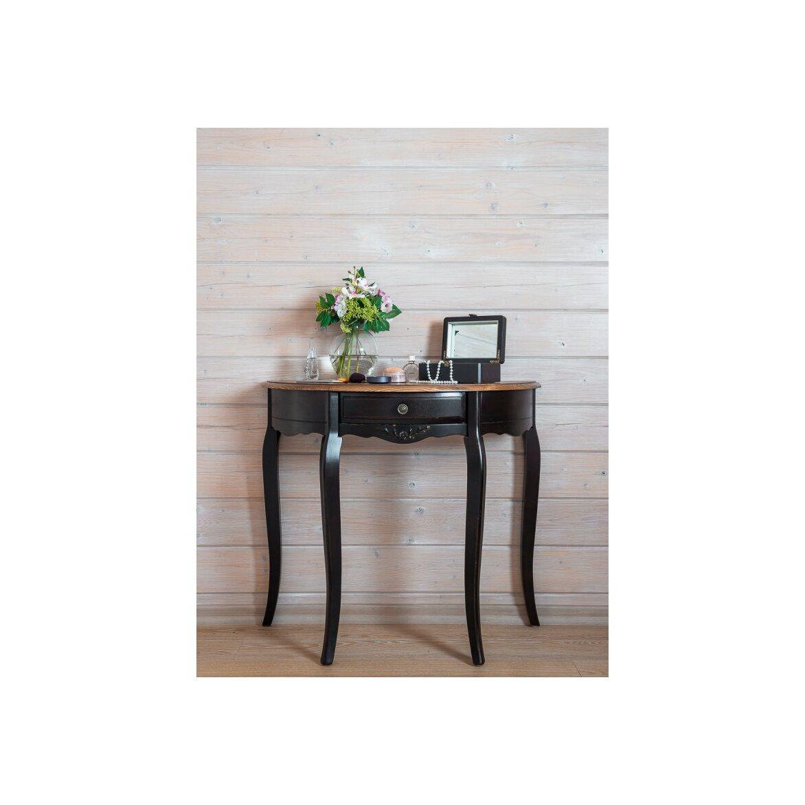 Овальная консоль (без зеркала) Leontina, черного цвета 3 | Консоли Kingsby