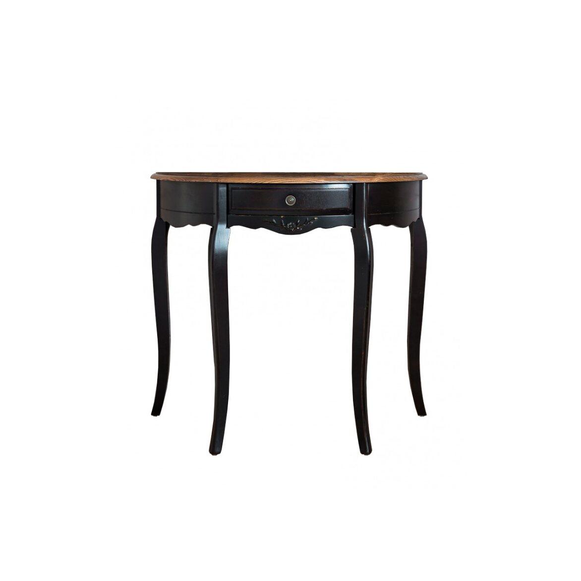 Овальная консоль (без зеркала) Leontina, черного цвета | Консоли Kingsby