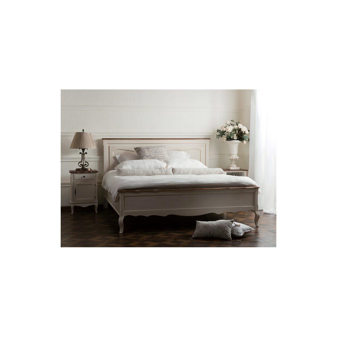 Кровать двуспальная Евро 180*200 Leontina, бежевого цвета 4   Двуспальные кровати Kingsby
