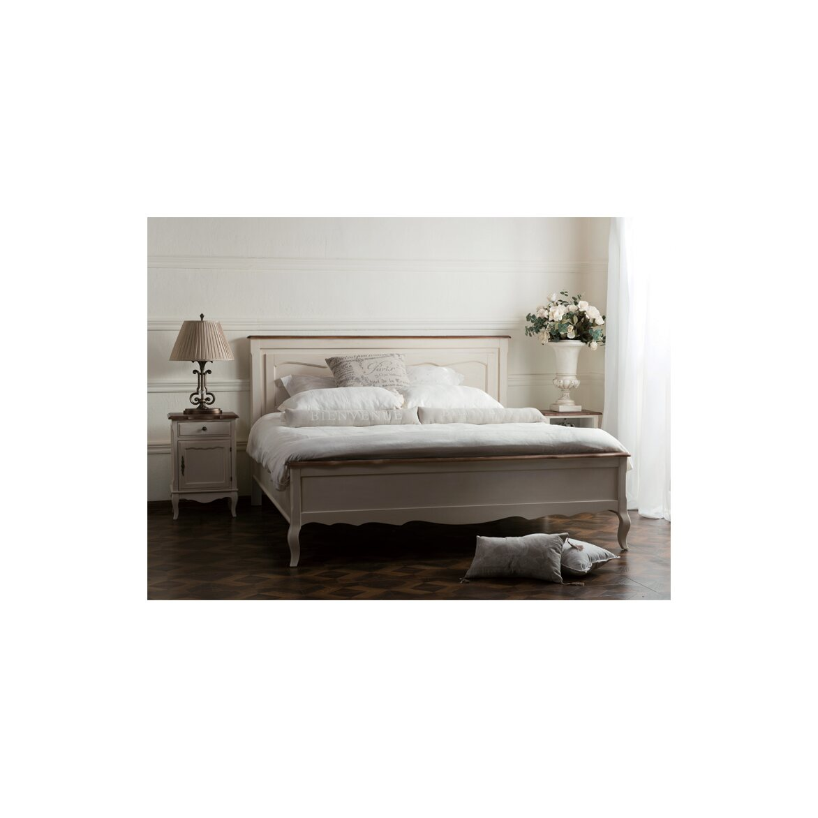 Кровать 140*200 Leontina, бежевого цвета 4 | Односпальные кровати Kingsby