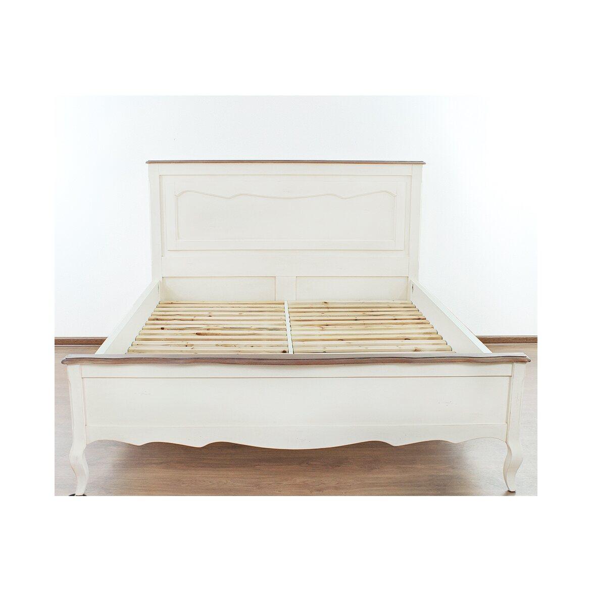 Кровать двуспальная Евро 180*200 Leontina, бежевого цвета   Двуспальные кровати Kingsby