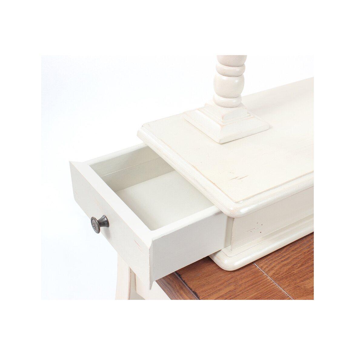 Туалетный столик с овальным зеркалом Leontina, бежевого цвета 7   Туалетные столики Kingsby