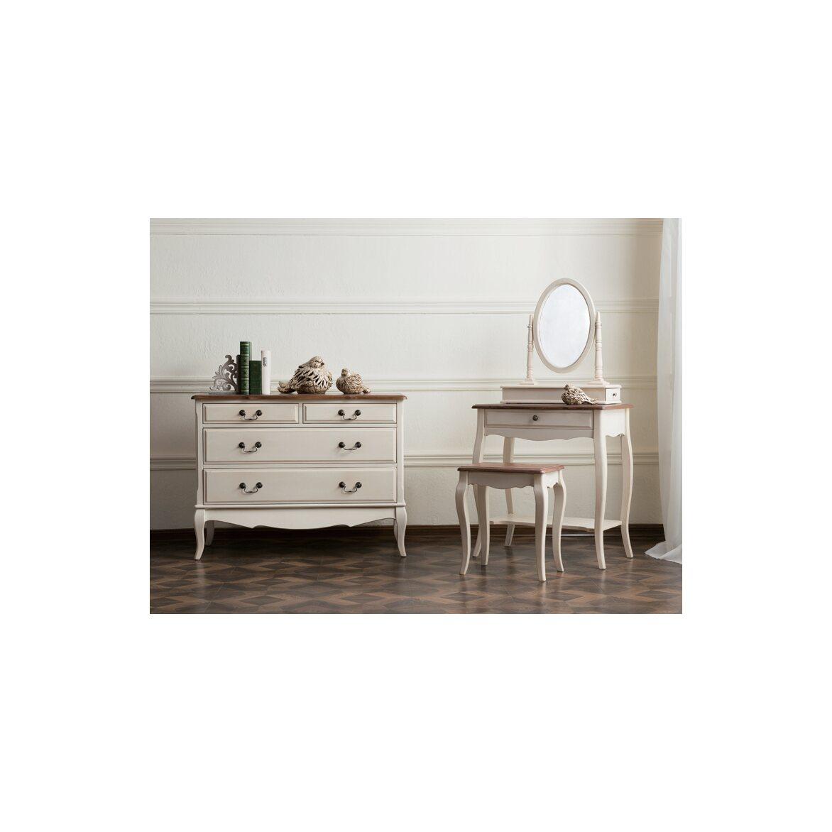 Туалетный столик с овальным зеркалом Leontina, бежевого цвета 10   Туалетные столики Kingsby