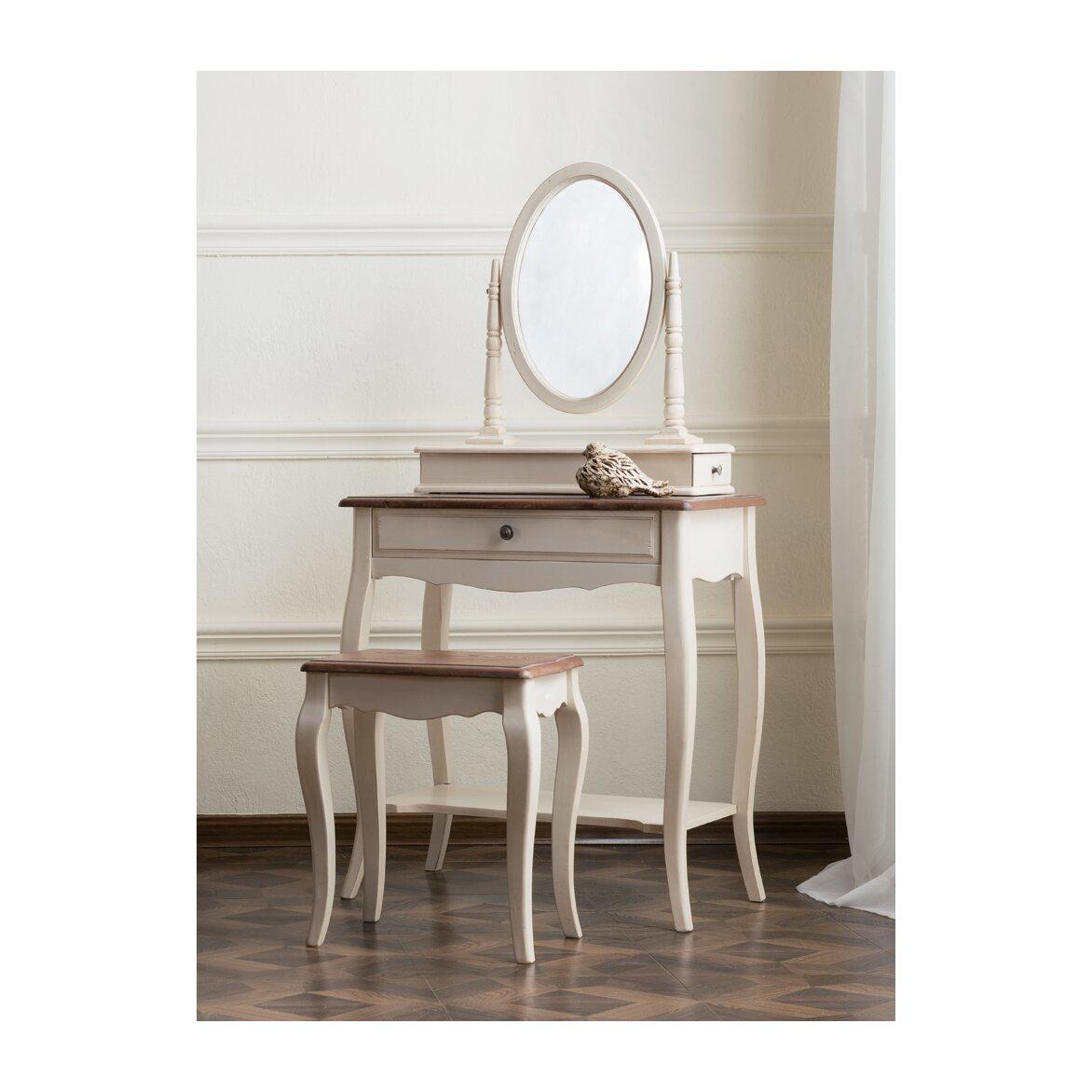 Туалетный столик с овальным зеркалом Leontina, бежевого цвета 9   Туалетные столики Kingsby