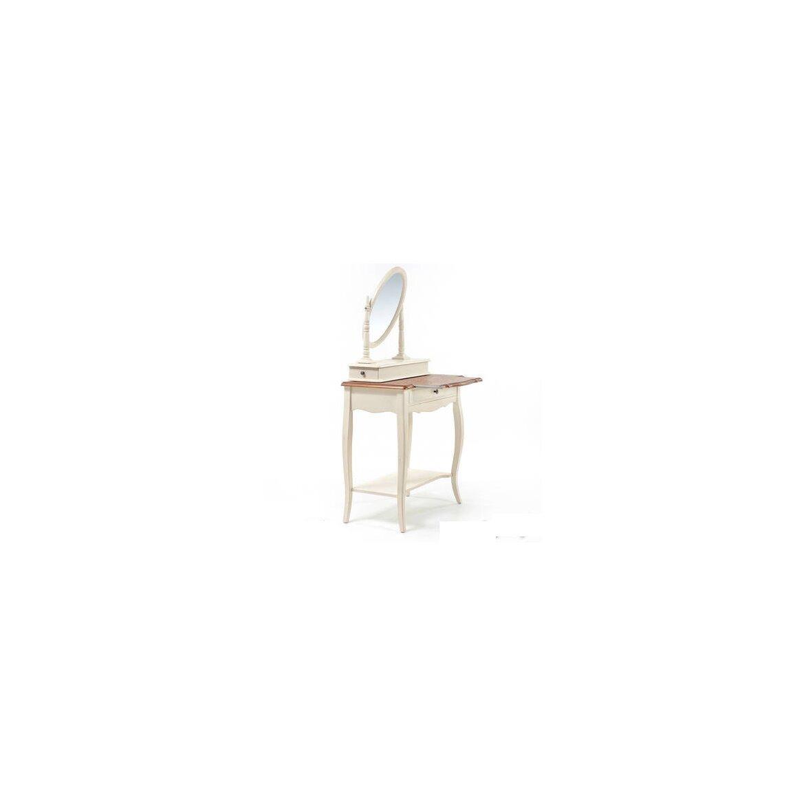 Туалетный столик с овальным зеркалом Leontina, бежевого цвета 6   Туалетные столики Kingsby