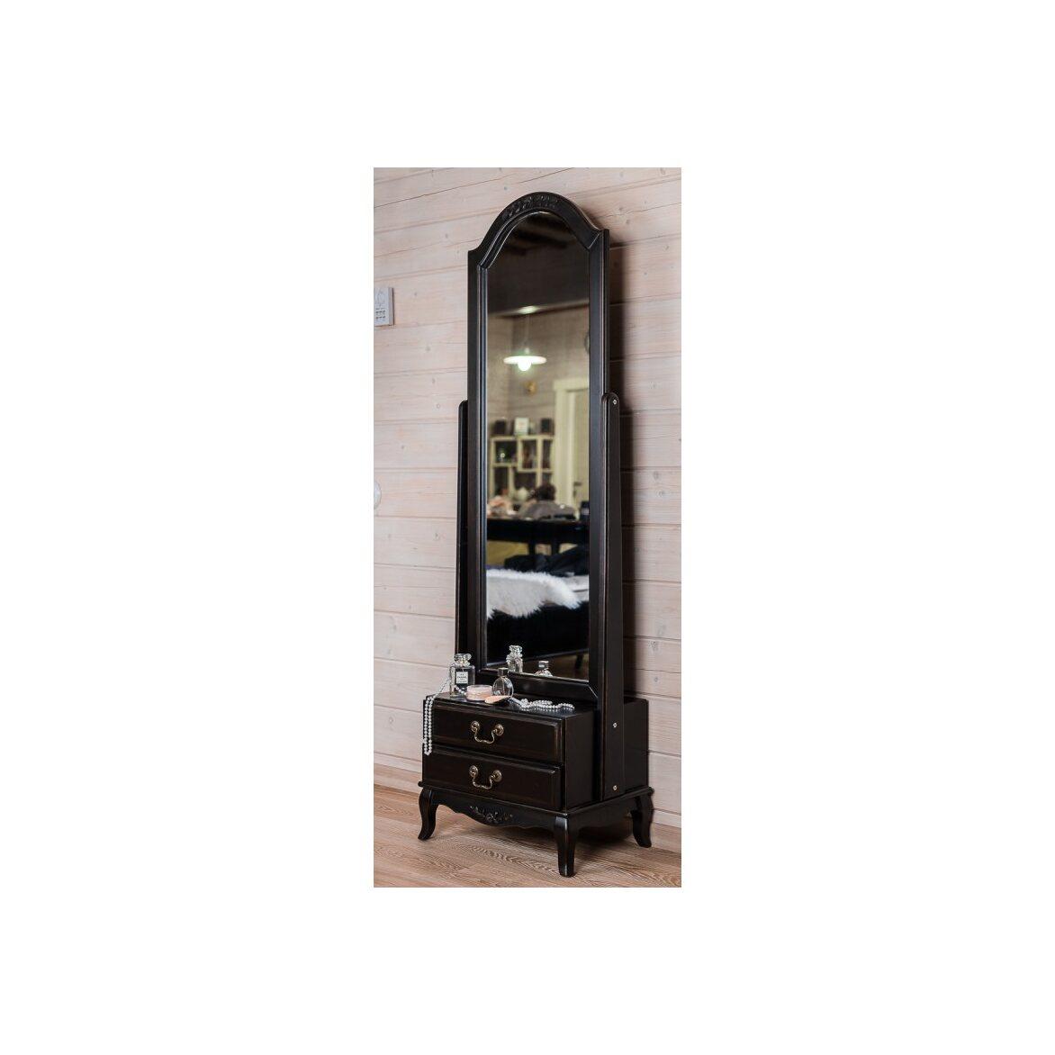 Большое напольное зеркало Leontina, черного цвета 4 | Прямоугольные зеркала Kingsby